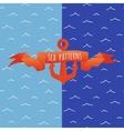 Undulating blue water ripple vector image