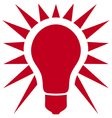classic light bulb icon vector image vector image