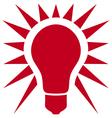 classic light bulb icon vector image