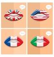 Study languages concept vector image