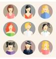 women avatars in flat style vector image vector image