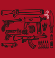 firearms set vector image