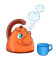 cartoon kettle vector image vector image