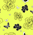 floral butterfly wallpaper vector image