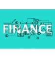 Finance concept flat line design with icons and vector image
