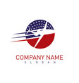 american airplane logo vector image