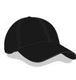 Black baseball cap vector image