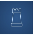 Chess line icon vector image