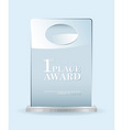 Glass award vector image