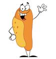 Lucky Hot Dog Waving A Greeting vector image