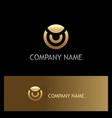 round gold company logo vector image