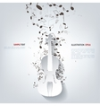 Violin Icon Music background vector image
