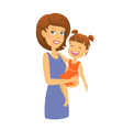 Mother with daughter Mom and child vector image