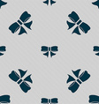 Ribbon Bow icon sign Seamless pattern with vector image