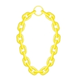 Golden chain necklace icon cartoon style vector image