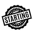 Starting rubber stamp vector image