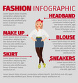 girl in casual style fashion infographic vector image