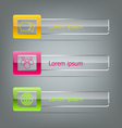 Set of banners on grey background vector image vector image