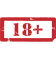 18 restriction sign vector image