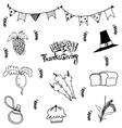 Doodle of food thanksgiving vector image