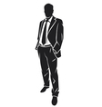 a standing businessman vector image
