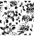 Black roses grunge seamless pattern Stylish vector image