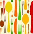 Colorful Cutlery Pattern vector image