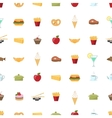 Food pattern seamless background vector image