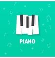 Piano keys flat logo isolated on green vector image