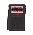 tech Radio recorder with buttons vector image