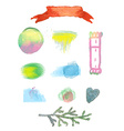 Watercolor design elements for sale vector image