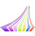 Multicolored arrows background vector image vector image