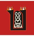 celtic letter U vector image