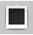 Empty photo backdrop or old blank frame vector image