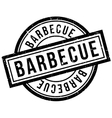 Barbecue rubber stamp vector image