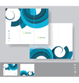 Brochures with blue circles WT vector image
