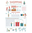 Shopping Infographic vector image