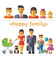 Icon set happy family vector image