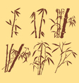 ORIENTAL BAMBOO INK PAINTING vector image