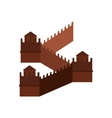 Great Wall of China icon flat style vector image