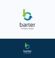 Barter B letter logo vector image