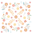 floral flower texture vector image