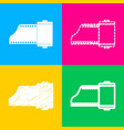 foto camera casset sign four styles of icon on vector image