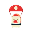 Kamikaze Funny Maki Sushi Character vector image