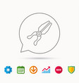 Pliers icon repairing fix tool sign vector image