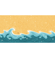 Seamless summer sand water border frame vector image