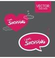 Stiker set I love shopping vector image