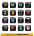 Tablet buttons collection isolated vector image vector image