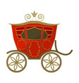 wedding carriage a carriage for the bride and vector image