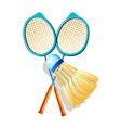 icon badminton vector image vector image